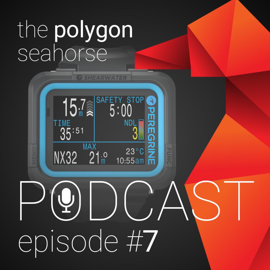 Podcast the polygon seahorse decompressieduiken en Shearwater duikcomputers